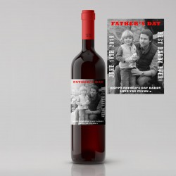 Black and White Photo Father's Day Wine