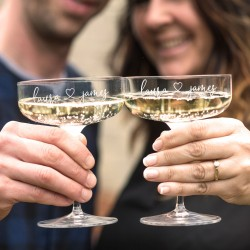 Couple Champagne Coupe Glass Set
