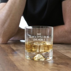 Dimple Whisky Glass (with personalisation)