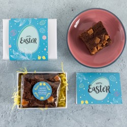 Easter Mini Salted Caramel Brownie Gift