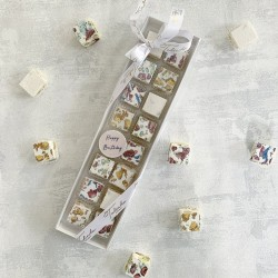 """Happy Birthday"" Deluxe Nougat Gift Box (16 pieces)"