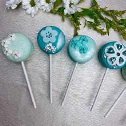 Azure Colour Macaron Pop Cookies Box