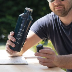 Personalised Midnight Corkcicle Drinks Bottle