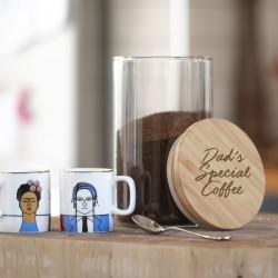 Personalised Glass Coffee Jar