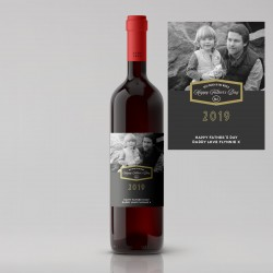 Split Design Photo Father's Day Red Wine