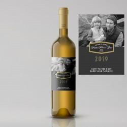 Split Design Photo Father's Day White Wine
