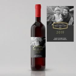 Split Design Photo Father's Day Wine