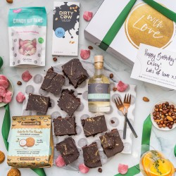 Chocolate Brownies Treat Night Gift Hamper (Add Exclusive Liqueurs)