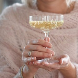 Lovers' Champagne Coupe Glass