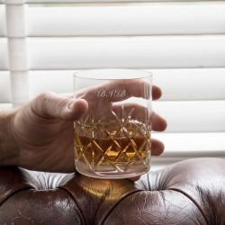Engraved Crystal Cut Whisky Tumbler