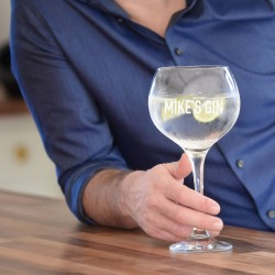 Man-Sized Personalised Gin Glass