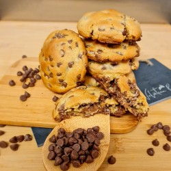 New York Style Chocolate Chip Cookies - Milk or Dark Chocolate - 6 or 12 Pieces Gift Box