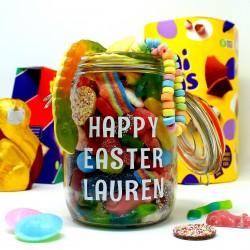 Easter Personalised Retro Sweets Jar