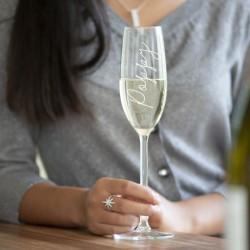 Script Name Champagne/Prosecco Glass