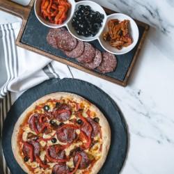 4 Home Baked Artisan Pizzas