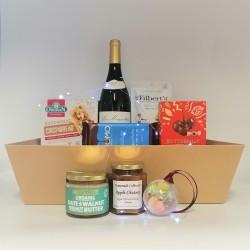 Vegan and Gluten Free Treats with Wine Gift Hamper - Maxi