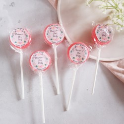 Personalised Floral Wreath Hen Party Small Lollipops