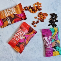 3 Pack Nut Selection – Cocoa Peanuts, Cayenne Mix, Smoky Almonds & Peanuts