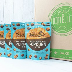 2 Home Baked Artisan Pizzas With Selection Of 4 Gourmet Salted Caramel & Chocolate Popcorn
