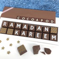 Ramadan Kareem or Ramadan Mubarak Chocolates