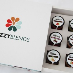 Raw Infused Honey Gift Box of 9 Mini Taster Jars