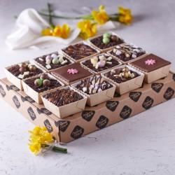 Hand Decorated Chocolate Truffle Spring Cake