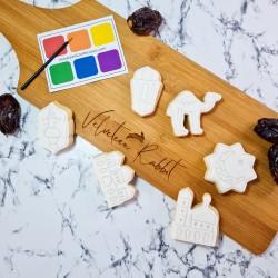 Eid Mubarak Paint Your Own Vanilla Biscuits Gift Set - 6 PYO Biscuits