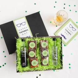 Father's Day Brownie Gift & 2 Mini Bottles of Chase Gin