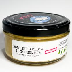 Roasted Garlic & Thyme Hummus Dip