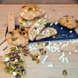 Pistachio & White Chocolate Gourmet Cookies - 6 or 12 Pieces Gift Box