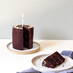 Dark Chocolate & Hazelnut Postal Celebration Cake - Vegan