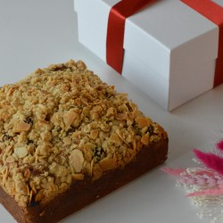 Sour Cherry & Almond Crumble Postal Cake