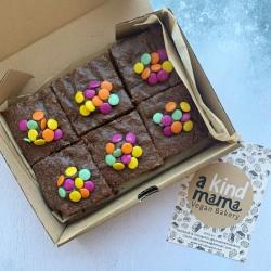 Chocolate 'Smarties' Vegan Brownies (Box of 6)
