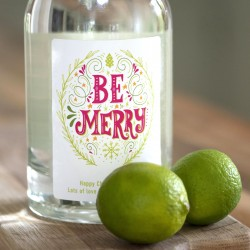 Personalised 'Be Merry' Botanical Gin