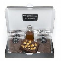 Gift Box of 8 Golden Honeycomb Dark Chocolate Brownies