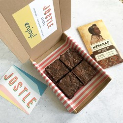Taster Box - Craft Chocolate + Brownies (Box of 4 & Bar of Craft Chocolate)