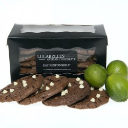 Gift Box of 12 Kaffir Lime Oil and White Chocolate Chip, Chewy Gooey Cookies