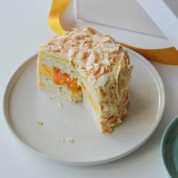 Alphonso Mango & Coconut Postal Cake