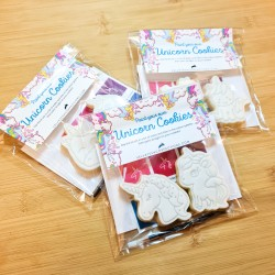 Paint Your Own Unicorn Party Favour - 2 PYO Cookies - Vanilla or Chocolate