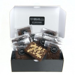 Gift Box of 8 Peanut Butter Dark Chocolate Brownies