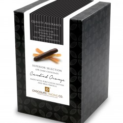 Superior Selection, Candied Orangettes, Dark Chocolate Gift Cube