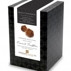 Superior Selection, French Chocolate Truffles, Chocolate Gift Cube