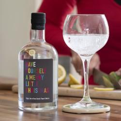 Personalised Colourful Christmas Botanical Gin