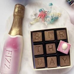 Chocolate Birthday And Fizz Box