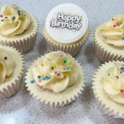 Happy Birthday Starburst Cupcakes