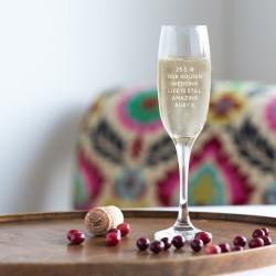 Golden Wedding Champagne Glass