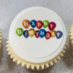 Happy Birthday Balloon Cupcakes Gift Box (Box of 6)