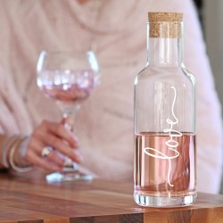 Love Decanter With Cork Stopper