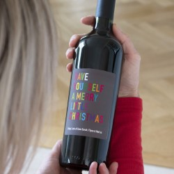 Personalised Merry Little Christmas Red Wine