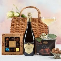 Prosecco and Chocolates Handbag Hamper